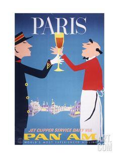 Pan Am - Paris Giclee Print at Art.com