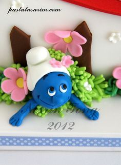 THE SMURFS CAKE by CAKE BY NESRİN TONG, via Flickr