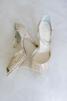 Ivory and Blue Bridal Shoes