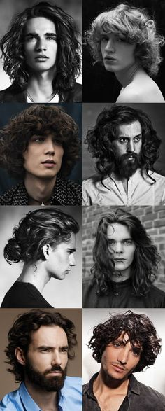 Men's Curly and Wavy Long Hairstyles