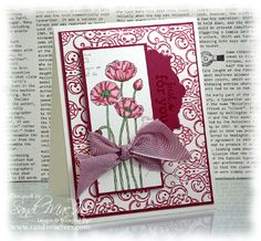 Stampin Up pleasant poppies, card by sandi maciver