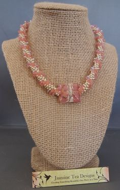 Hey, I found this really awesome Etsy listing at https://www.etsy.com/listing/130432637/pink-lampwork-kumihimo-necklace-czech