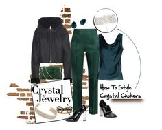 """How To Style: Crystal Chokers"" by ladygroovenyc ❤ liked on Polyvore featuring Cachet, Kenneth Jay Lane, adidas Originals, Rosie Assoulin, Charlotte Olympia, Clips, Giuseppe Zanotti, Marc Jacobs, Alexis Bittar and crystaljewelry"