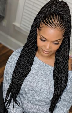 d hairstyles;braided hairstyles for black women;braided hairstyles for long hair;braided hairstyles for black hair kids;braided hairstyles for short hair; Box Braids Hairstyles, Braided Ponytail Hairstyles, African Hairstyles, Cool Hairstyles, Cornrow Ponytail, Popular Hairstyles, Half Cornrows, Hairstyles Haircuts, Braids Cornrows