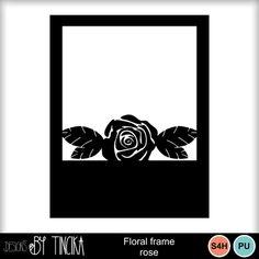 Digital Scrapbooking Kits   Floral frame rose-(TINCIKA)   Decorative, Family, Girls, Holidays - Mother's Day, Memories, Weddings   MyMemories