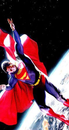 jthenr-comics-vault: Superman by Alex Ross