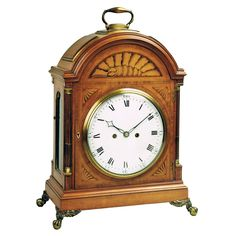 Antique Bracket Clock by Thomas Wright, Poultry, London  | From a unique collection of antique and modern clocks at https://www.1stdibs.com/furniture/decorative-objects/clocks/