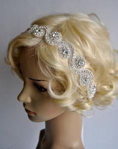 Wedding HeadbandRhinestone Headband Crystal by BlueSkyHorizons