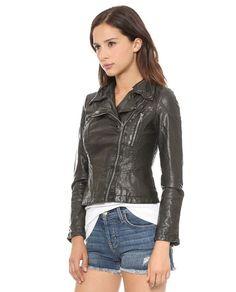 Free People Vegan Leather Black Moto Jacket Size 2 Retails $168. #FreePeople #biker