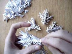 Modular árvore origami - parte 1 de 2(origami)