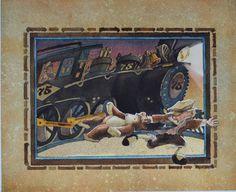 """Ghost Train"" Children's Book Art by Sherry Meidell"