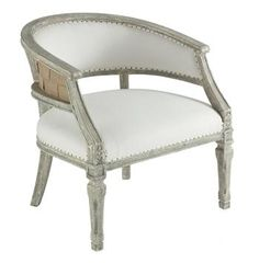 Mary Elizabeth Barrel Back Boudoir French Country Chair One of my favorite styles. I keep buying them!