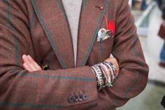 Pitti Uomo 87 - Wristbands and kissing buttons by Luca Rubinacci