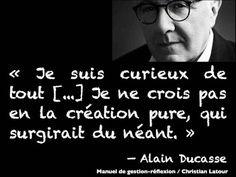 L'inspiration et la créativité... par Alain Ducasse. - La Revue HRI : HOTELS, RESTAURANTS et INSTITUTIONS