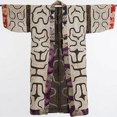 Ainu people, kimono the exhibition Sashiko - Japanese stitches Mode Kimono, Kimono Jacket, Textiles, Ainu People, Japanese Embroidery, Comme Des Garcons, Kimono Fashion, Ethnic Fashion, Japanese Kimono
