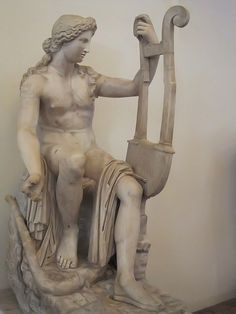 Apollo Kaitharoidos from the Hadrianic Period (2nd century CE) Roman copy of Hellenistic original Marble