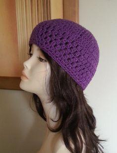 Crocheted Beanie Hat  Crochet Skullcap Beanie  Boho by jazzicrafts ♡♡