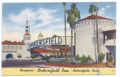 An poster sized print, approx (other products available) - Bakersfield Inn, luxury hotel in Bakersfield, Kern County, USA. Date: circa 1940 - Image supplied by Mary Evans Prints Online - Poster printed in the USA Bakersfield California, California Art, Vintage California, Southern California, Framed Prints, Poster Prints, Canvas Prints, Art Print, Kern County