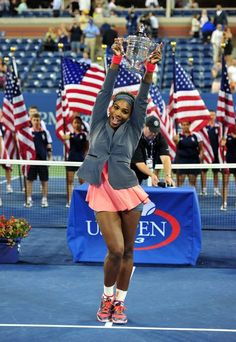 American Serena Williams enjoyed 17 victory in the Grand Szlemie, winning for the fifth time the U. Open on hard courts in New York. Serena Williams, Tennis Association, Tennis Center, Professional Tennis Players, Billie Jean King, Us Open, Opening Day, Victorious, Cheer Skirts