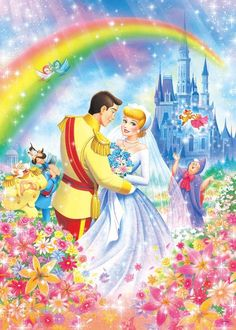 High quality Disney jigsaw puzzles made in Japan by Tenyo: Princesses - from Imaginatorium Shop Disney Kunst, Arte Disney, Disney Art, Cinderella Wallpaper, Disney Wallpaper, Cinderella Disney, Disney Princess Art, Cinderella Princess, Cinderella Wedding