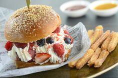 ice cream hamburger