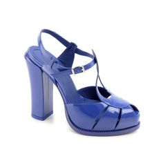 Fendi blue patent leather sandals (8X4714 NEH F0Q3V) - Bledoncy