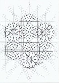 Islamic Art Pattern, Arabic Pattern, Geometry Pattern, Pattern Art, Geometric Drawing, Geometric Shapes, Motifs Islamiques, Graph Paper Art, Sacred Geometry Art