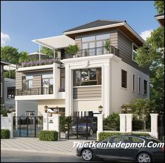 Modern Exterior House Designs, Modern House Floor Plans, Dream House Exterior, Dream House Plans, Cool House Designs, Modern House Design, 3 Storey House Design, Bungalow House Design, House Front Design