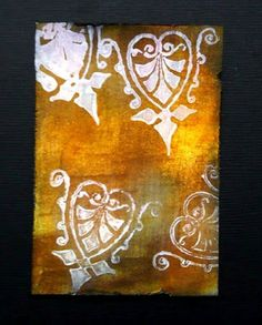 ***Stamping with Gesso; save for ideas...