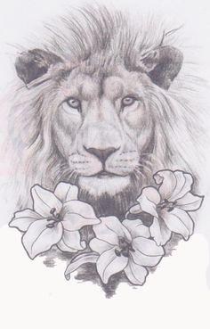 Lion In The Lilies