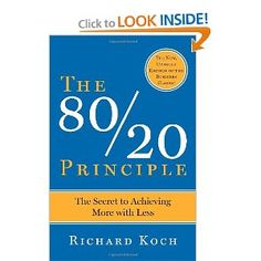 In The 80/20 Principle: The Secret to Achieving More with Less, Richard Koch explores how you can apply the Pareto Principle to your business and personal life. The majority of a system's outputs are usually the result of a minority of the inputs. Those who ignore the 80/20 Principle are doomed to average returns, while those who optimize for it will get more value for less work.