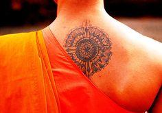 Buddhist tattoo - Shaolin monk