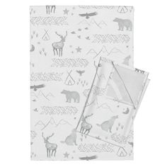 Orpington Tea Towels featuring Watercolor Woodland by mrshervi