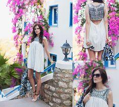 The Wildflower Shop Dress, Sheinside Printed Jacket, Mango Sandals, Zero Uv Sunnies
