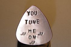 Want an awesome and unique gift for the guitar player in your life?  https://www.etsy.com/listing/88564652/guitar-pick-handmade-from-copper-stamped?ref=shop_home_active