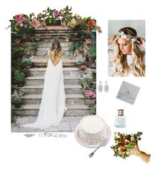 """""""Untitled #39"""" by sagepayne ❤ liked on Polyvore featuring Mud Pie, Emily Rose Flower Crowns, Nearly Natural, Kendra Scott, CARAT* London, Library of Flowers and Dogeared"""