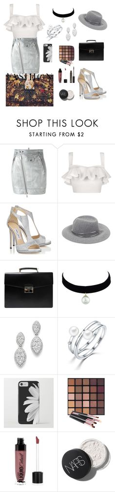 """🌸"" by ionelaaaa ❤ liked on Polyvore featuring Dsquared2, Lolitta, Jimmy Choo, rag & bone, Prada, Bloomingdale's, Wet n Wild and NYX"