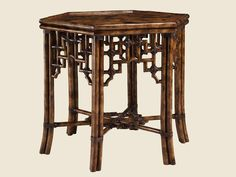 Tortoise Shell - Finish on Bamboo Side Table