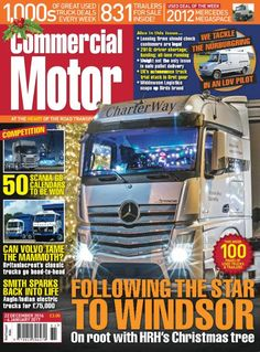 "22 December 2016 ► In our Christmas issue of CM, out now, we tackle a lap of the Nurburgring in an LDV pilot ► We go ""on root"" with the Queen's Christmas tree as it travels to Windsor ► Widdowson Logistics snaps up Birds brand ► Win one of 50 Scania calendars"