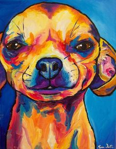 chihuahua painting..i like these colors