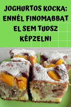 Ennél finomabbat el sem tudsz képzelni! #kocka #joghurtos Croatian Recipes, Hungarian Recipes, Hungarian Food, Banana Dessert, Dessert Bread, Veggie Recipes, Bread Recipes, Veggie Food, Cooking Tips
