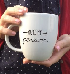 You're My Person hand-painted mug by glitterandbold on Etsy
