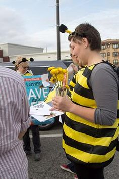 More than a million people have signed petitions demanding that Lowe's stop selling bee-killing pesticides and plants pre-treated with these pesticides. Photo credit: Sum of Us