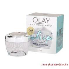 Olay White Radiance Whip UV SPF30 PA    Moisturiser 50g. Skin Care Cream, Day Makeup, Face Skin Care, Even Skin Tone, Olay, Moisturiser, How To Know, Whitening