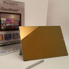 NEW! Microsoft Surface Pro 3 Champagne Gold GlassShield  #PerfectFit #glassShield #champagne  http://www.perfectfittech.com/products/microsoft-surface-pro-3-champagne-gold-glassshield-premium-glass-screen-protector