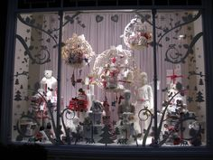 Christmas window display, The White Company, London