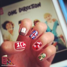 One Direction nail art.....i MUST do this. if i can actually pull it off