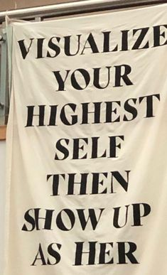 Visualise your Highest Self then show up as Her Motivacional Quotes, Mood Quotes, Positive Quotes, Life Quotes, Crush Quotes, Relationship Quotes, Pretty Words, Beautiful Words, Cool Words