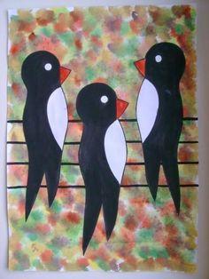 vögel basteln kindergarten - Spring Crafts For Kids Spring Crafts For Kids, Autumn Crafts, Kids Crafts, Kindergarten Art Projects, School Art Projects, Drawing For Kids, Art For Kids, Spring Birds, Bird Quilt