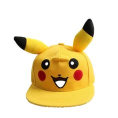 8080df1587c Japanese Famous Animation Cartoon Comic Cute Lovely Pokemon GO Pikachu Flat  Snapback Caps Hat for Men Women child cap